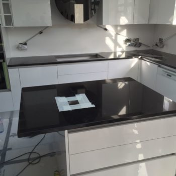 Black Stone Kitchen Worktops